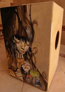 Flamenco cajon hand made with