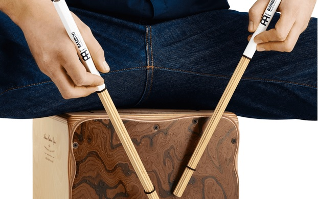 playing-cajon-with-sticks