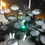 drums set in studio