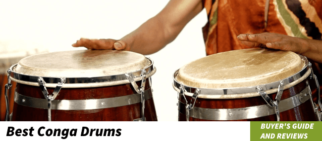 header image of the best conga drums article