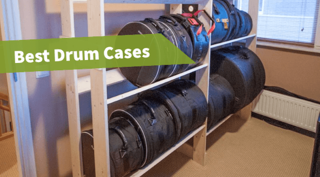 featured image of the article: drum cases hard, road drum cases, padded drum bags review, drum set cases