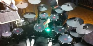 drums set in studio