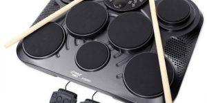 Table electronic digital drum set in black color
