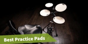 Feautared image of the article: best drum practice pad, drum practice pad review.