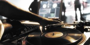 A DJ mixing