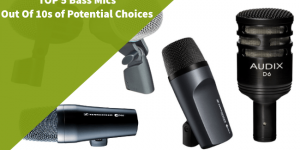 5 different models of microphones suitable for bass drum