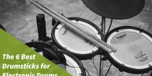 photo in black and white featuring the best drumsticks for electronic drums